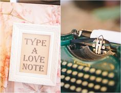 type a note, or adivce on typewriter at wedding_Love Notes At Wedding