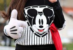 Mickey cute black and white lady sweatshirt