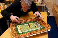 Edible football stadium. Must try this.