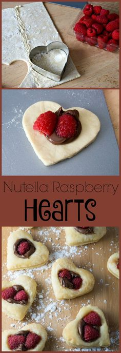 Nutella Raspberry Hearts - these Nutella Raspberry Cookies are heart shaped and perfect for a Valentine's Day treat