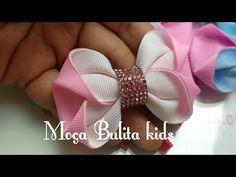 Ribbon Hair Bows, Diy Hair Bows, Diy Bow, Diy Ribbon, Baby Bows, Baby Headbands, Diy Shrink Plastic Jewelry, Hair Bow Tutorial, Making Hair Bows
