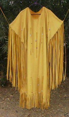 Buckskin dress...