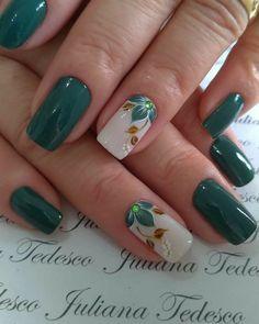 Classy Nails, Fancy Nails, Stylish Nails, Trendy Nails, Elegant Nail Designs, Nail Art Designs, Green Nails, Pink Nails, Romantic Nails