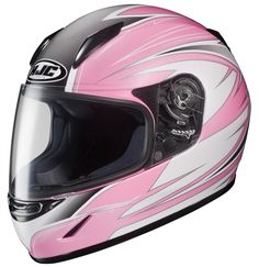 HJC CL-Y RAZZ PINK AND WHITE YOUTH HELMET MC-8