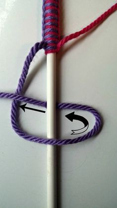 Yarn Covered Hangers - How To. It's not like I'll ever get to this, but it's a cute idea