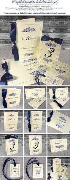 Zaproszenia ślubne Olivia - granatowe, papier ecru, eleganckie. Zaproszenia na ślub i wesele bardzo piękne, oryginalne. Warszawa
