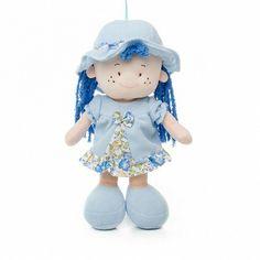 Doll Mary Lou Fabric 30cm.HT Blue Aqua