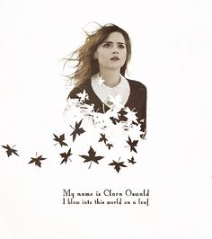 My name is Clara Oswald. I blew into this world on a leaf. #doctorwho