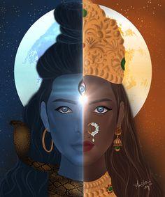 Durga Kali, Shiva Shakti, Shiva Linga, Lord Shiva Painting, Krishna Painting, Shiva Art, Hindu Art, Shiva Parvati Images, Tarot