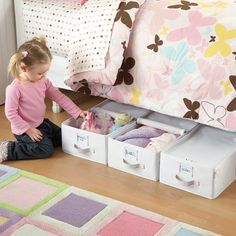 One Step Ahead My Closet Underbed Storage Bin Kids Love These They Keep