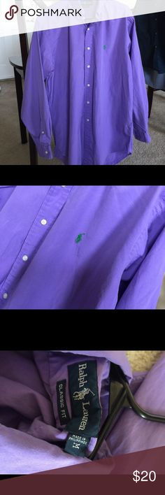 Ralph Lauren lilac purple Button Down Size M Good condition Ralph Lauren Shirts Dress Shirts