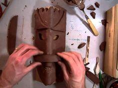 In this lesson 4th grade students learn how to use their design made in a previous lesson to create an African styled mask using clay. This part of the lesso...