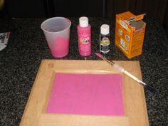We want to chalkboard paint some things, and this looks a lot cheaper than the store bought stuff!