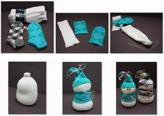 calcetin paso a paso navidad muñeco