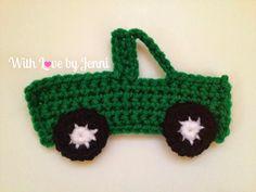 With Love by Jenni: Crochet Pick-up Truck Applique Pattern ✿⊱╮Teresa Restegui http://www.pinterest.com/teretegui/✿⊱╮