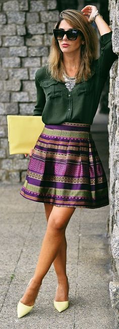 LOVE the print of this skirt!