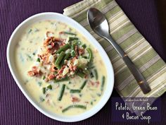 Flavorful creamy broth, with fresh green beans, potatoes and bacon, make this a great soup year round, but especially when you have those fresh green beans!