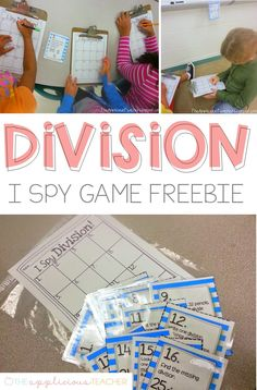 I Spy Division Freebie - The Applicious Teacher 3rd Grade Division, Teaching Division, Division Activities, Division Games, Teaching Math, Kindergarten Math, Teaching Ideas, Multiplication And Division, Teaching Technology