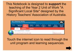 """This terrific IWB resource has been designed to support the teaching of the Unit of Work A Significant Local Site"""" developed by the History Teachers' Association of Australia. Students look at how their school has changed over time. Students will also be able to develop their observation and deductive thinking skills by exploring their immediate environment."""