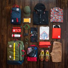 """topo-designs: """" Topo Designs Travel Series The concept of Travel guides a lot of what we do here at Topo. Our Travel Series has been growing and evolving to create a system of bags, accessories and. Mens Outdoor Clothing, Fashion News, Mens Fashion, Edc Everyday Carry, What's In Your Bag, Outfit Grid, Herschel Heritage Backpack, Outdoor Outfit, My Bags"""