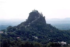 Mount Popa, extinct volcano Barma, probably flue exposed by erosion...?