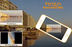 Horizon para iOS permite grabar vídeos horizontalmente sin importar como sostengas tu dispositivo. Ios