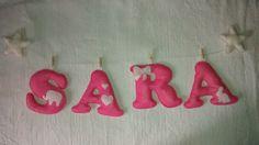 Nombre de fieltro: SARA.