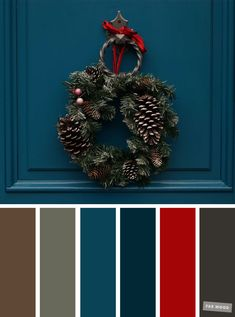 33 Pretty Winter Color Schemes { Red + Dark Blue } – color of life Color Schemes Colour Palettes, Dark Color Palette, Dark Blue Color, Dark Colors, Color Combinations, Color Blue, Winter Color Palettes, Red And Blue, Christmas Palette