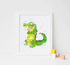 Tick tock croc alligator nursery crocodile peter pan by ArtQuality