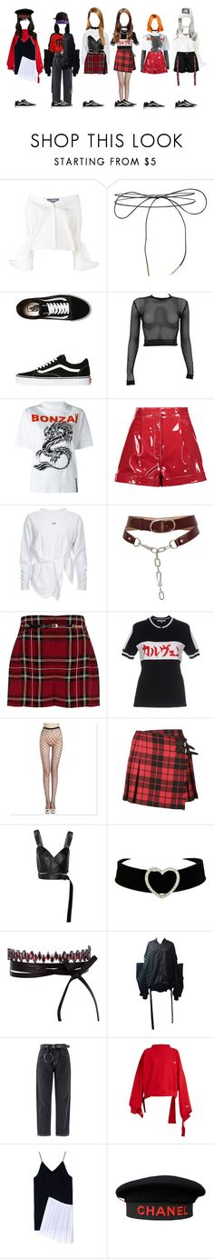 """DC-Mistake"" by yonce4park ❤ liked on Polyvore featuring Jacquemus, Lilou, Vans, PAM, Filles à papa, Valentino, Alexander Wang, River Island, Carven and Burberry"