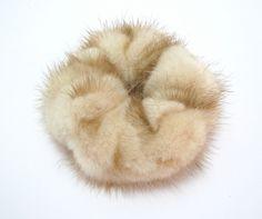 new real natural mink fur scrunchie/hair tie/ponytail holder/bracelet