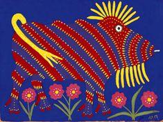 Bestiary of Maria Pryimachenko, Ukrainian folk artist (1908-1997)