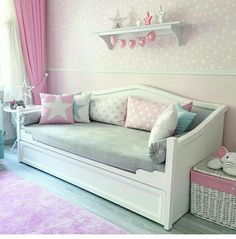 Box Room Bedroom Ideas, Teen Room Decor, Small Room Bedroom, Room Decor Bedroom, Kids Bedroom, Girls Daybed, Daybed With Trundle, Girls Room Design, Girl Bedroom Designs