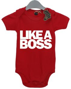 Like a Boss Funny Boys Girls Babygrow Unisex All Sizes + Colours Tee Onesie Baby Grow Jump Body Suit by TheShedOutlet on Etsy