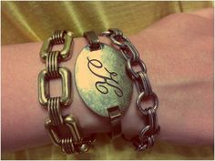 Get this Look!  Foursquare Bracelet Brass [AC00264] - $58.00 Brass Initial Bracelet [AC00230] - $42.00 Whisper Charm Bracelet – FREE! (retails at $38.00) when you host a party!!!  https://kellydavis.jewelkade.com