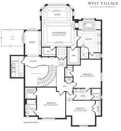 Floor Plan. House Floor Plan. Home with four bedrooms floor plan. #FloorPlan #HomesFloorPlan Designed by Kylemore Communities Custom Homes.