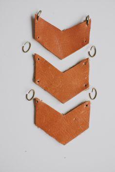 DIY Leather Chevron Necklace