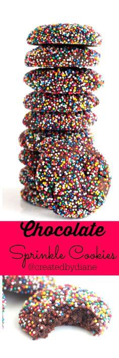 Chocolate Sprinkle Cookies @createdbydiane