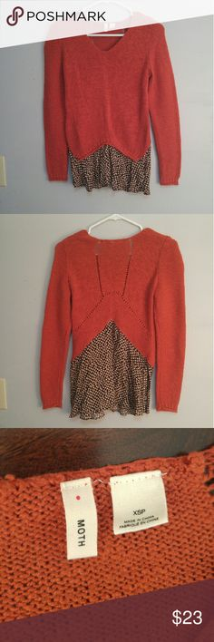 MOTH Long Sleeve Faux Layered Shirt. Sweater This Anthropologie brand sweater is in excellent condition. Anthropologie Sweaters
