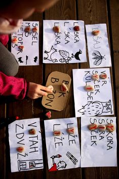 Učíme venku Beginning Sounds, Montessori, Language, Teaching, Education, School, Cards, Dyslexia, Autism