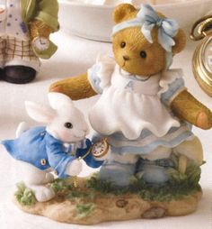 "Alice ""You'll Always Be There In Time Of Need"" 'Alice In Wonderland' ( Nursery Rhymes) Alice Rabbit, Cow Decor, Tiny Teddies, My Teddy Bear, Boyds Bears, Animal Decor, Cute Bears, Nursery Rhymes, Alice In Wonderland"