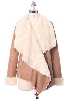 Chicwish Drape Jacket in Camel