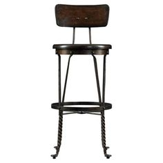 Check out this item at One Kings Lane! Farmhouse Barstool, Chocolate