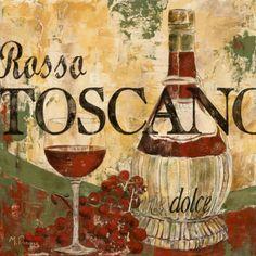 Rosso Toscano by Maria Donovan Por supuesto hay que disfrutar siempre de una buena compita de vino en tu bello hogar!!