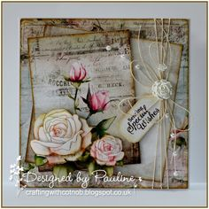 Crafting with Cotnob, CD Sunday, Decoupage, Distressed, Polkadoodles, Something New, Stamping