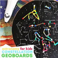 Kids' Astronomy Project: Constellation Geoboards - Babble Dabble Do