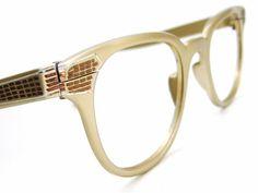 6a70dde9f8a7 Mens Aluminum Horn Rim Eyeglasses or by Vintage50sEyewear on Etsy
