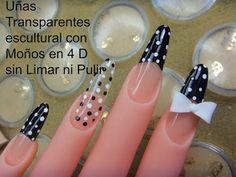 225 Mejores Imágenes De Uñas Transparentes Pretty Nails Nail