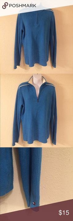 LIKE NEW Tommy Hilfiger Blue And White Pullover XL LIKE NEW Tommy Hilfiger Blue And White Pullover XL Tommy Hilfiger Tops