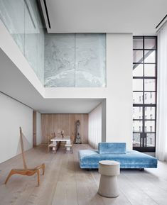 The Hudson-facing duplex of Jill Dienst ~ Designed by John Pawson & by for Architectural Digest via John Pawson, Best Interior, Home Interior, Interior Architecture, Interior And Exterior, Ancient Architecture, Sustainable Architecture, Landscape Architecture, Architectural Digest